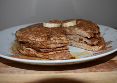 Banana French Toast Protein Pancakes