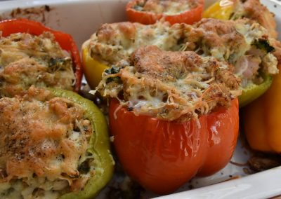 Dreamy Dill Chicken Stuffed Bell Peppers